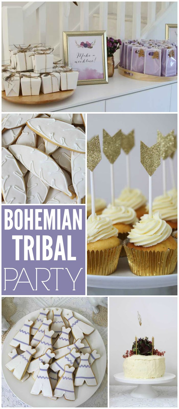 Love this tribal bohemian party with bubbles, dancing and games! See more party ideas at CatchMyParty.com!