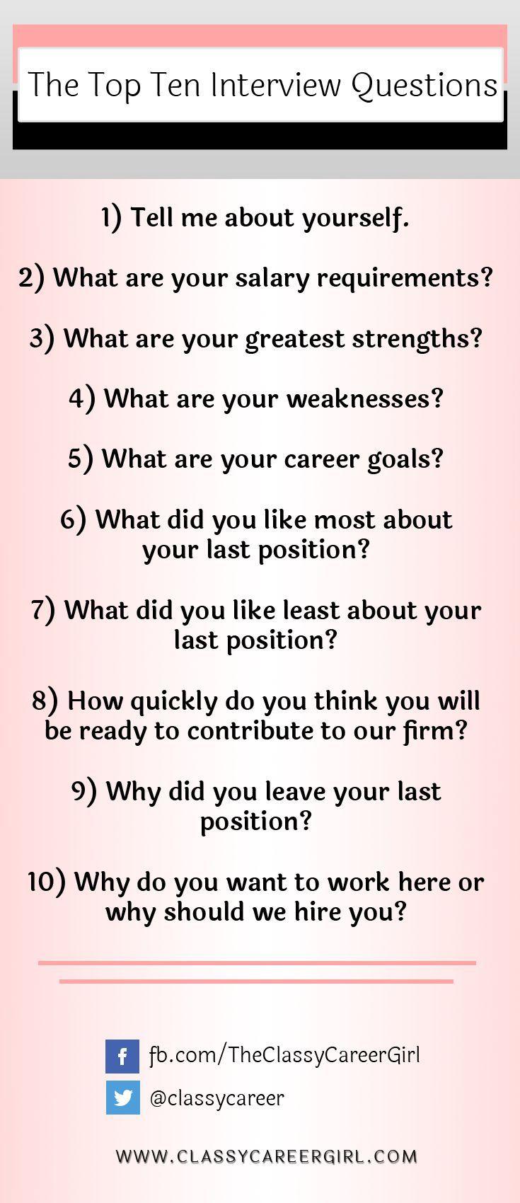 Best 25 Job Interview Questions Ideas On Pinterest