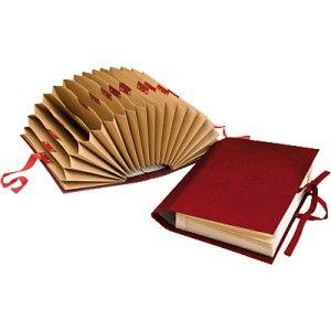 Carpeta acordeon AZ tamaño Folio color Burdeos
