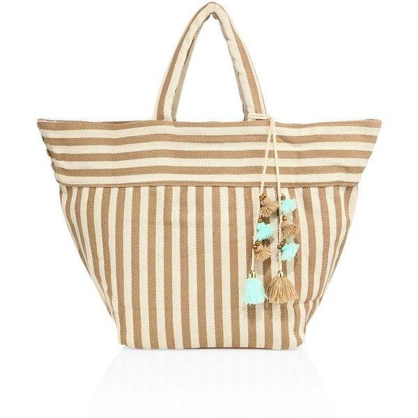 JADEtribe Valerie Stripe Beach Tote ($160) ❤ liked on Polyvore featuring bags, handbags, tote bags, apparel & accessories, stripe tote, beach tote bags, striped tote bag, striped tote and stripe tote bag