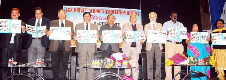 Members of Private Schools Association and NISA releasing charter of demands during a conference.