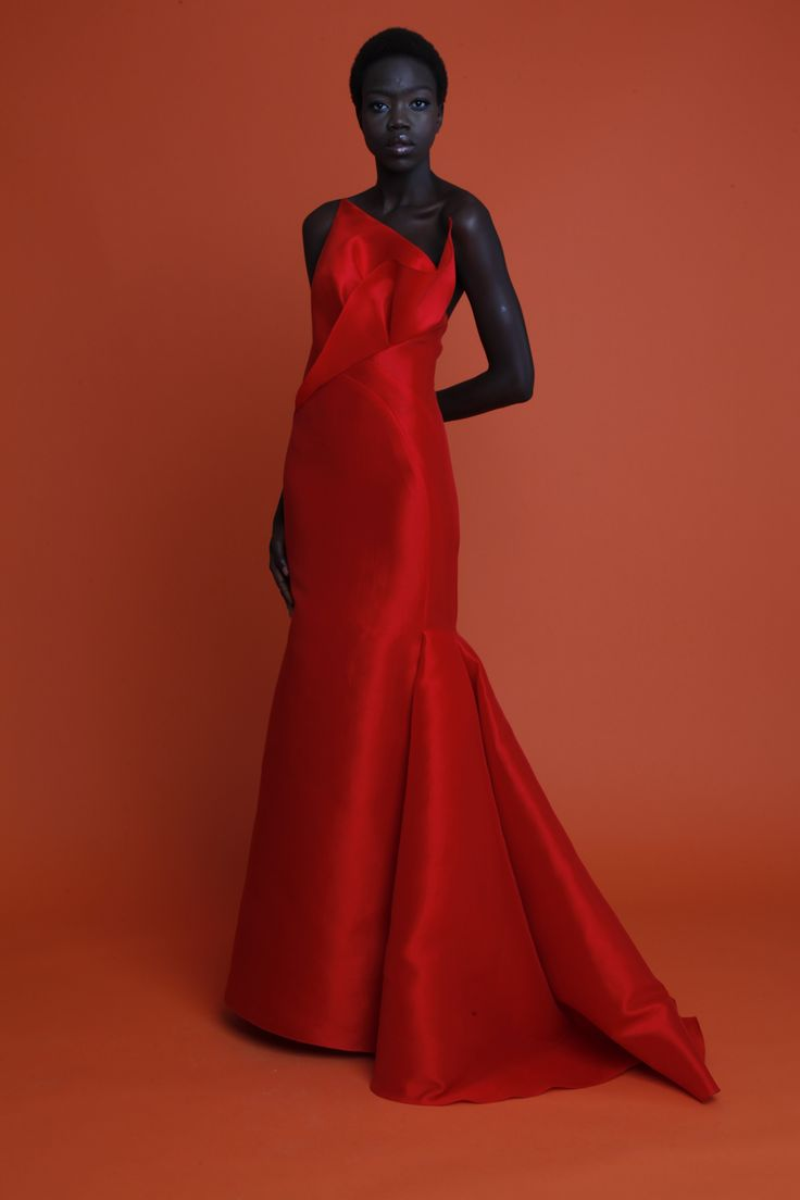 Vibrant Evening Couture: Angel Sanchez Resort 2013