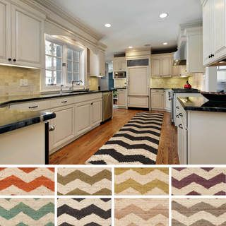 Artistic Weavers Hand-woven Tobey Natural Jute Chevron Area Rug (2'3 x 12')   Overstock.com Shopping - Great Deals on Artistic Weavers Runner Rugs...Foyer
