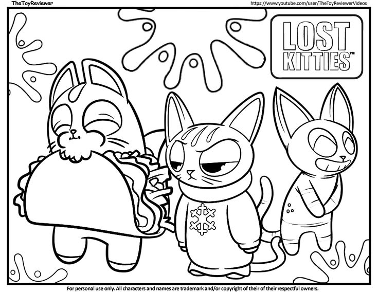 Here is the Lost Kitties Coloring Page! Click the picture