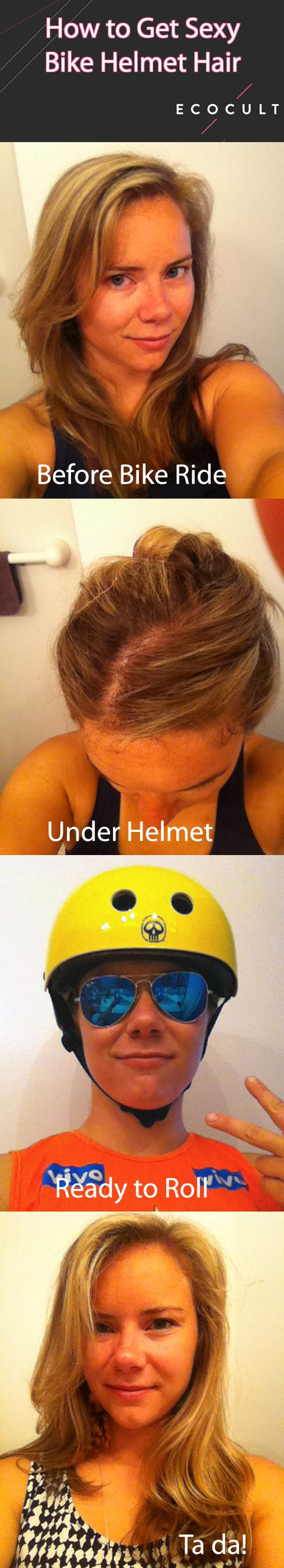 How to Turn Sweaty Bike Helmet Hair into Sexy Bike Helmet Hair