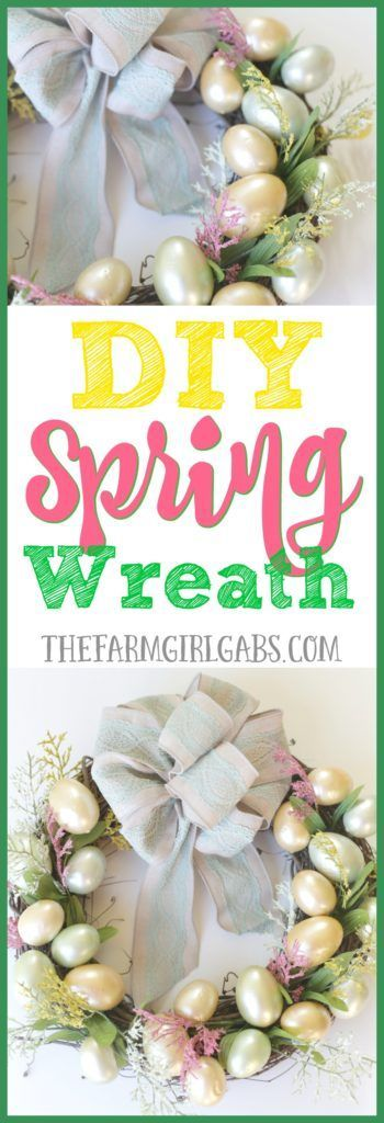Brighten up your front door decor with this easy and welcoming DIY Spring Easter Egg Wreath. It's the perfect craft idea to warm your home and welcome spring.