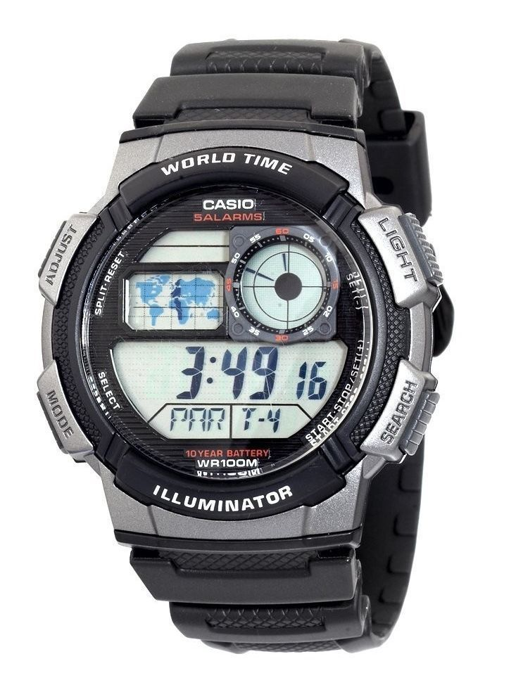 how to set time on casio g shock