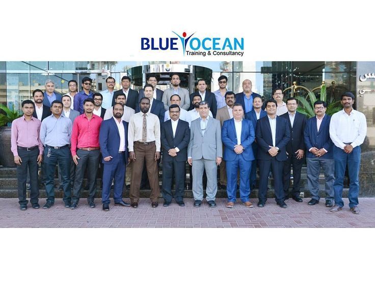 Certified Project Management Professionals, trained by Blue Ocean and certified by the PMI, USA.