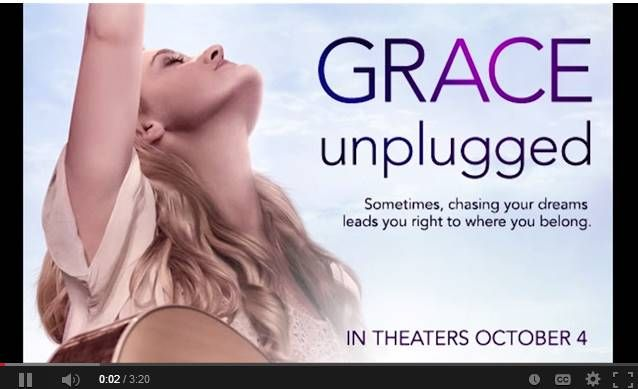 "Grace Unplugged (2013) Grace Trey is the ideal Christian teen who is also a phenomenal singer. But at the tender age of eighteen, after she gets the music break of a lifetime and is thrust into the ""real world"" - her faith is put to the test.  AJ Michalka, Kelly Thiebaud, James Denton...TS Christian"