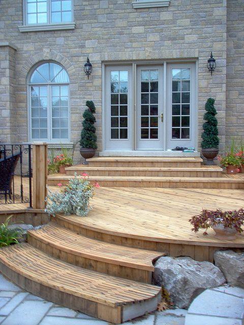 79 best Patio & steps doors images on Pinterest | Decks ... on Backyard Patio Steps id=97405