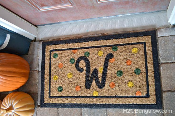 Finished-Fall-DIY-Monogram-Doormat-H2OBungalow