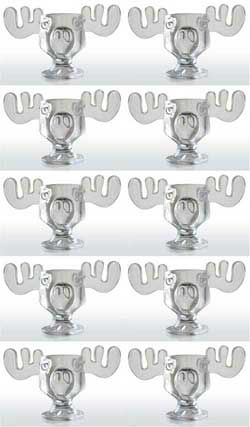 National Lampoon Christmas Party Ideas - Moose Mugs - Set of 10