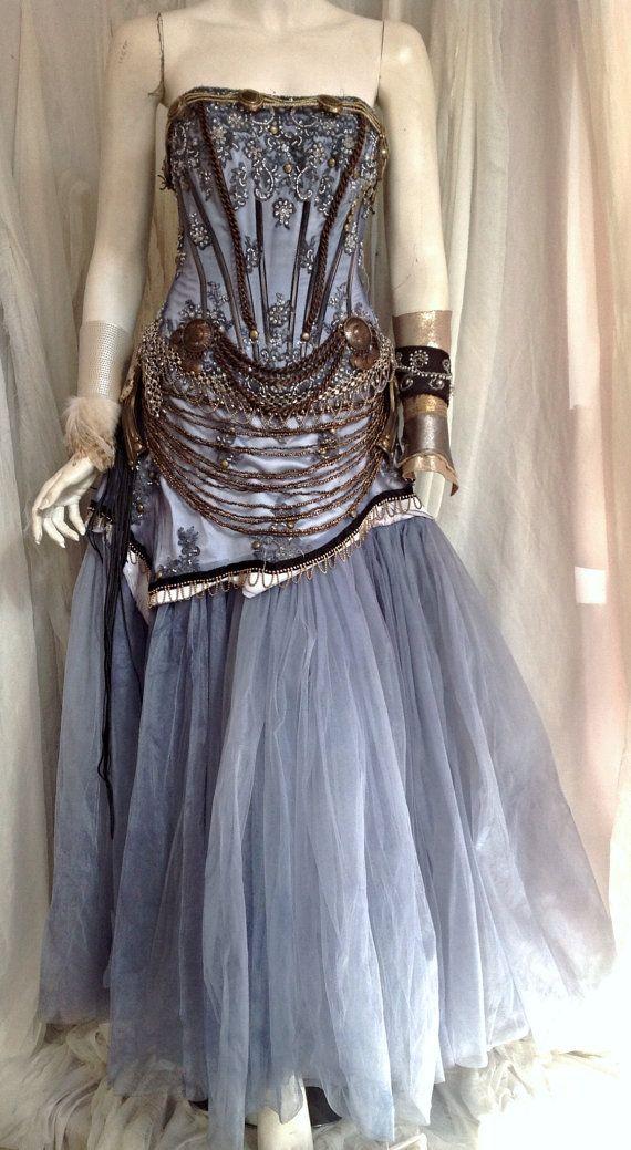 17 best images about steam punk wedding on pinterest for Steampunk corset wedding dress