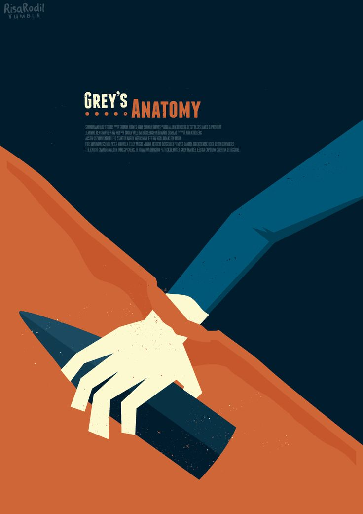 Grey's Anatomy (2005–) ~ Minimal TV Series (Episode) Poster by Risa Rodil #amusementphile