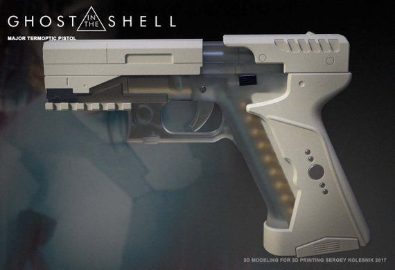 3d Model Major S Blaster From Movie Ghost In The Shell Etsy Ghost In The Shell Pistol Ghost