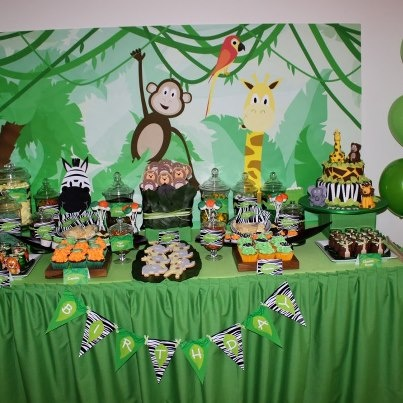 Jungle Candy Buffet Jungle Themed Candy Buffet