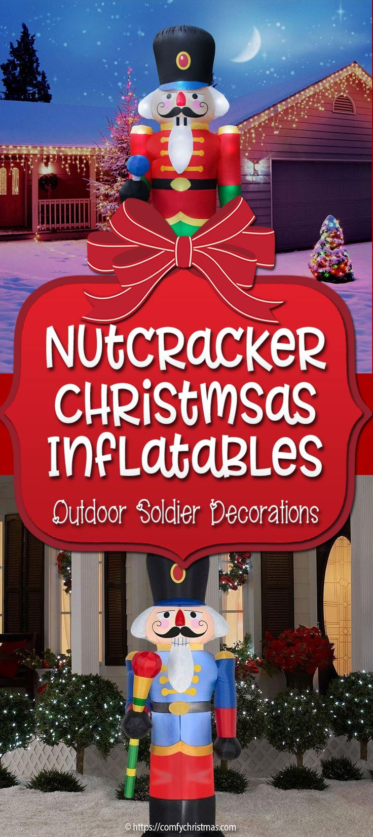 These Nutcracker Soldier Decorations Outdoor Christmas Inflatables are the ideal Whimsical Inflatable Nutcracker Outdoor Decorations that are sure to delight everyone who passes by!