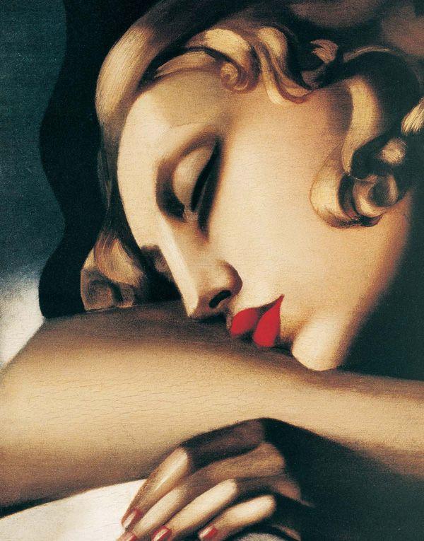 Tamara De Lempicka (1898-1980) - Sleeping Woman (La Dormeuse) (détail)