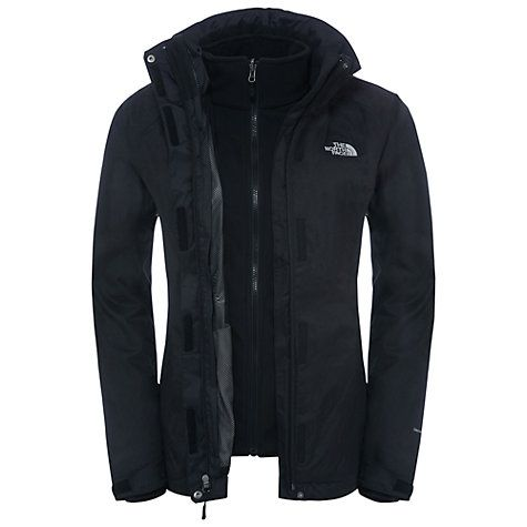 Buy The North Face Evolve II Triclimate 3-in-1 Waterproof Women's Jacket, Black Online at johnlewis.com