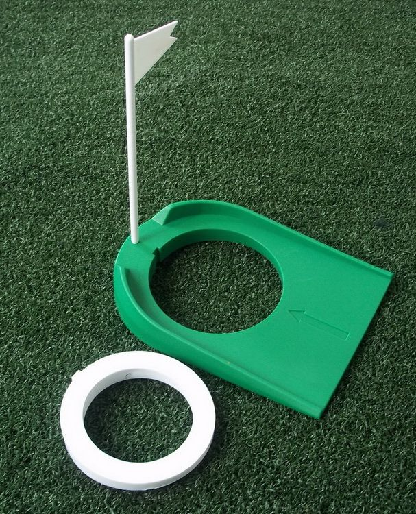 A99 Golf 2-Hole Putting Cup 2 hole cup adjustable Golf Flagpole hole cup indoor training aids