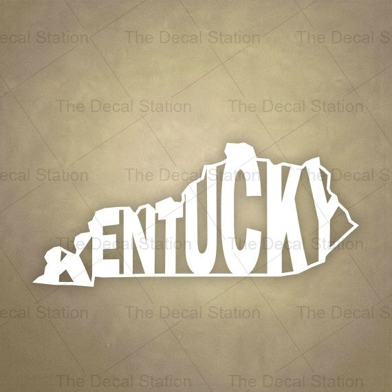 Kentucky vinyl decal sticker for car truck by thedecalstation