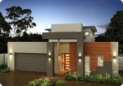 Fachadas de casas modernas com telhado embutido e escondido - Pinturas modernas para casas ...
