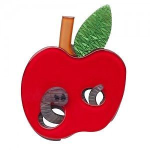 Erstwilder 'MRS Apple AND MR Worm' Brooch Free Gift Discounts Apply | eBay