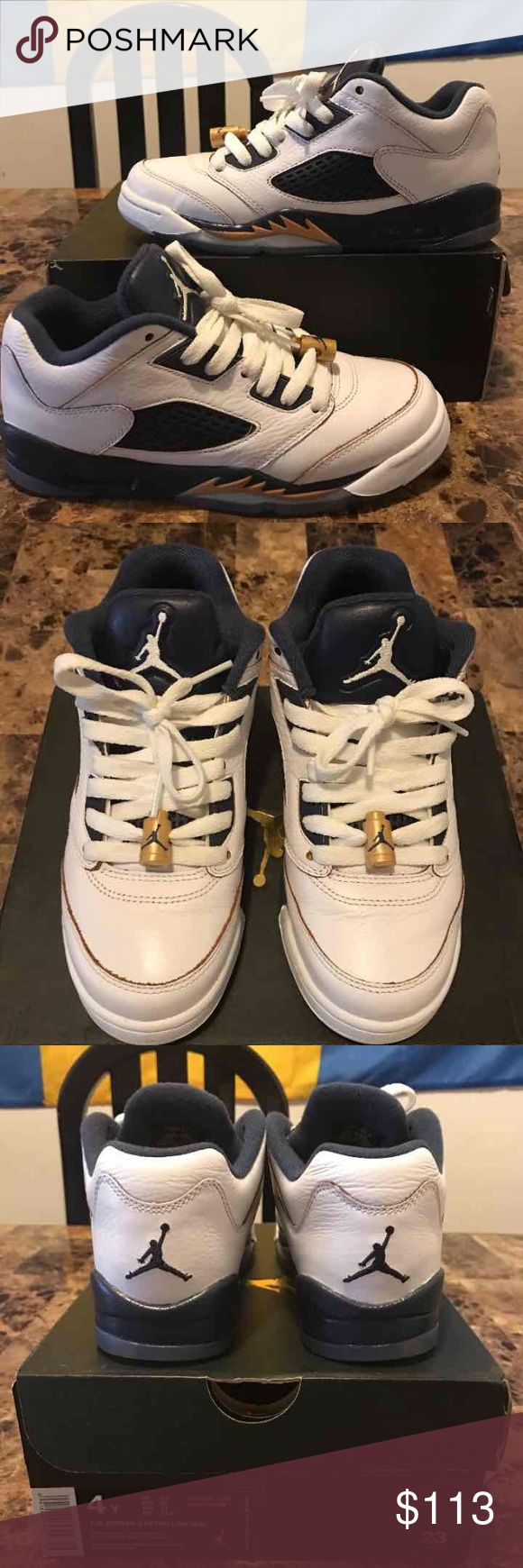 Air Jordan 5 Retro Low GS 314338-135 Excellent Condition!! Price Firm!!  Size 4Y Worn Once!! 100% Authentic Jordan Shoes Sneakers