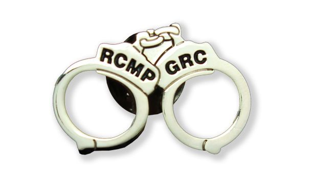 $2.99 A very unique and subtle pin that lets others know you don't mess around! Add the handcuff lapel pin to your lapel and show your support for the RCMP while displaying a very cool lapel pin. Learn more at www.themountieshop.ca