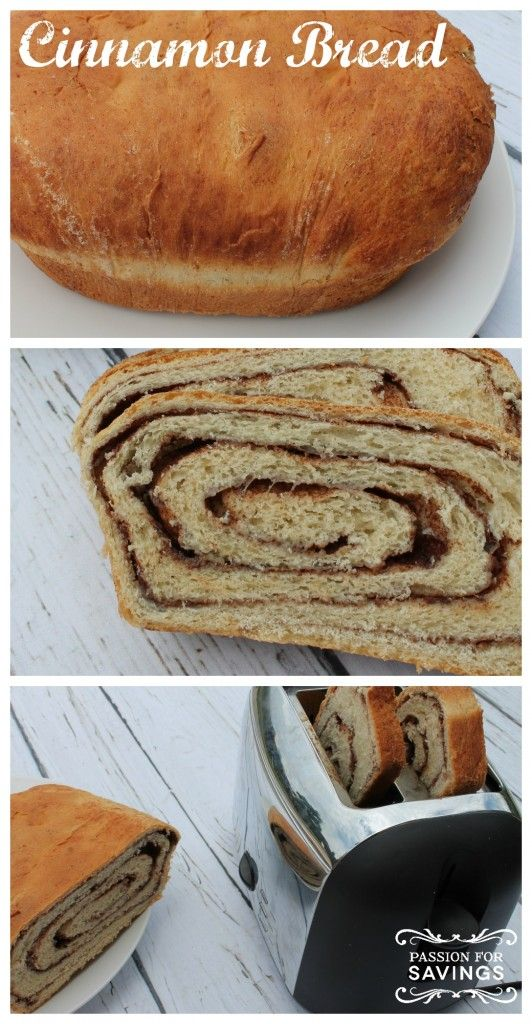 Cinnamon Bread - delicious! Would recommend doubling the cinnamon part ...