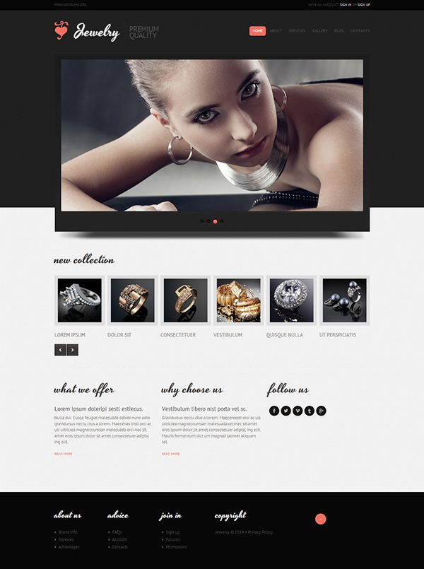 Jewelry Boutique Joomla Template