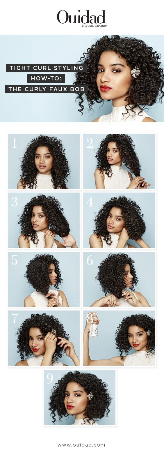 styling the hair ouidad tight curl styling how to curly faux bob your 4701