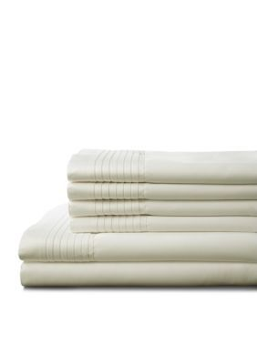 Elite Home Products  Lancaster 1000 Thread Count Sheet Set - Ivory - Cal. King