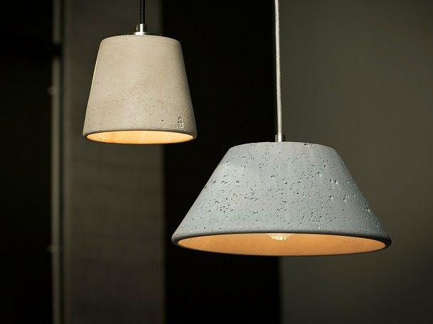 CONCRETE PENDANT LAMP MONS 280 BY URBI ET ORBI