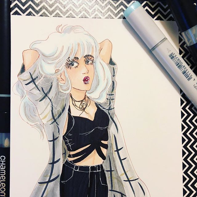 Pin On Manga Comic And Fan Art Marker Art Created With Chameleon Pens