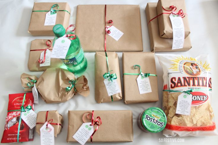 Easy 12 Days of Christmas Idea. It's not too late to do it! Includes printables! #christmas #12daysofchristmas