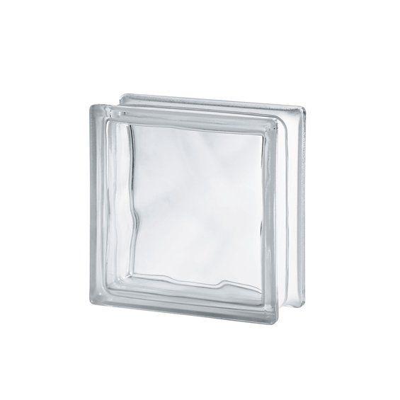 Glasbaustein Clear wave Transparent