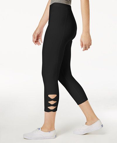 65e9b367040fa Style & Co Twisted Cutout Leggings, Created for Macy's | pants | Cut ...