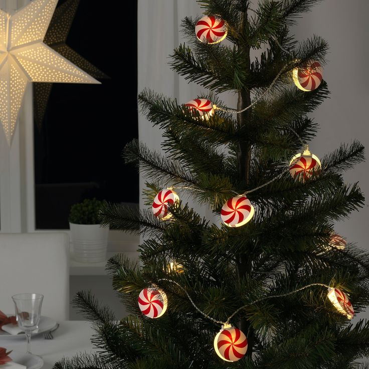 12 x IKEA Strala Christmas Tree Table LED Decorations White /& Gold in 4 Boxes