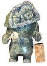 Inuit Art -Mother with baby in amautti