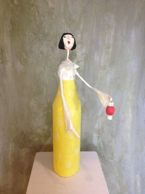 Kittiekat Werkstatt Bottle Ladies Pinterest Paper Art