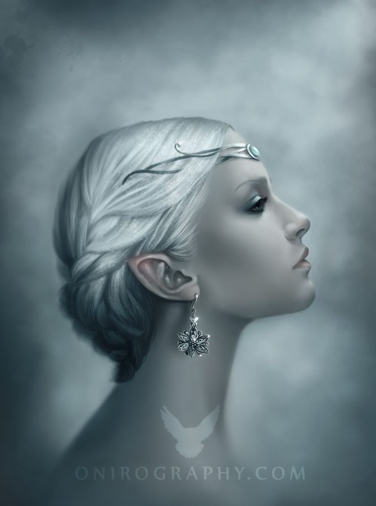 Snow queen portrait by Rozennilliano.: