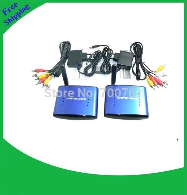 4 canales 5.8G Transmisor AV Inalámbrico y el Receptor A/V de audio vídeo línea remitente 200 m receptor de Señal de TV RCA transmisor