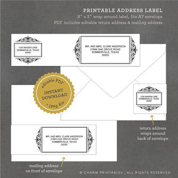 17 best images about wedding invitation inspiration on pinterest address label template. Black Bedroom Furniture Sets. Home Design Ideas