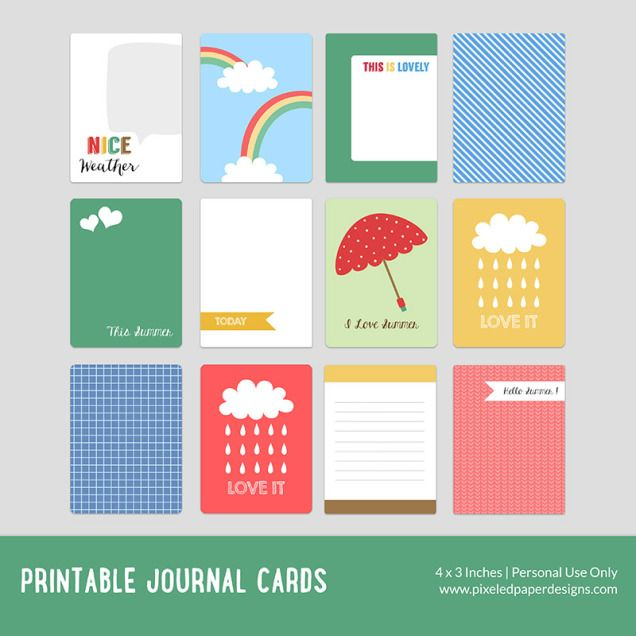 Free Printable Journal Card - Summer