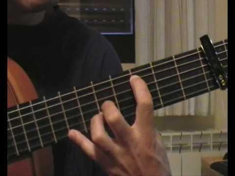 """4-301: Lección de guitarra flamenca:""""Reflejo de luna""""-1ª parte  (Granaín..."""