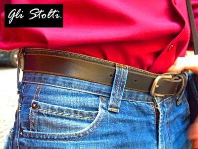 Cintura in cuoio lavorata a mano. Gli Stolti Original Design
