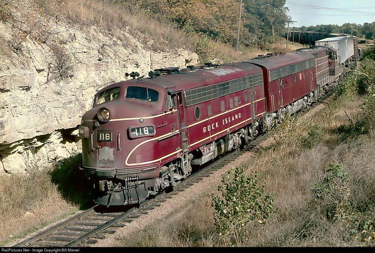 118 Chicago, Rock Island & Pacific (Rock Island) EMD F7(A) at Manhattan, Kansas by Bill Marvel