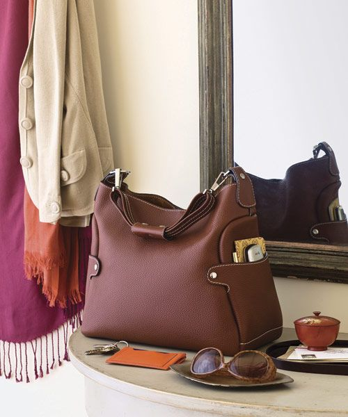 It's kind of remarkable how some things we touch daily, we rarely clean — your purse is another one of those. About half all women's bags have fecal bacteria on them, so give it a swipe with a disinfectant wipe.   - HouseBeautiful.com