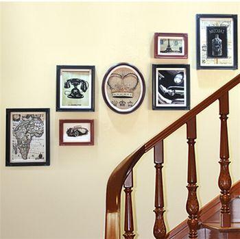 Старинные рамы для картин черный / белый цвет старинные стены фоторамки семья фоторамка стене висит украшение дома